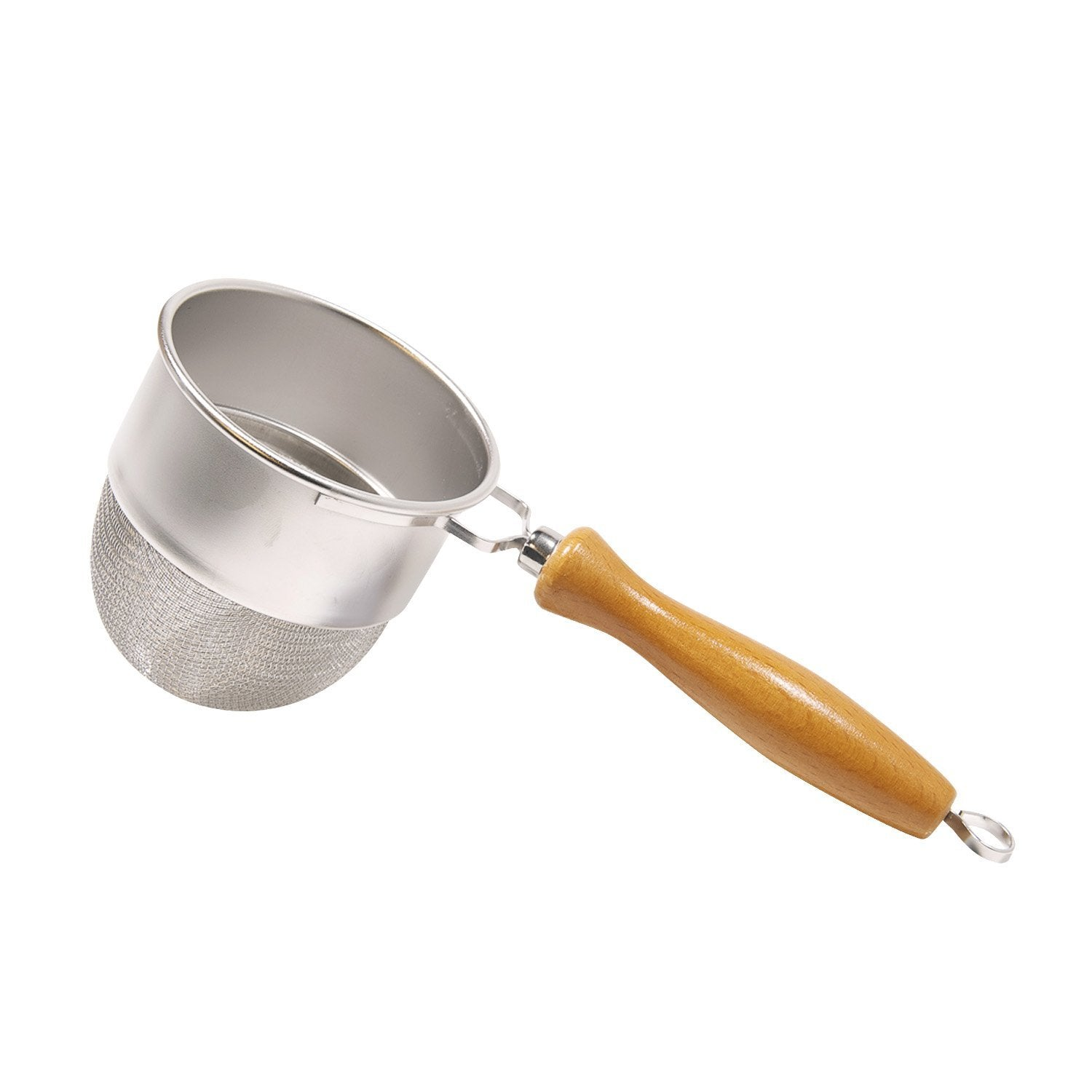 Stainless Steel Tea Strainer with Wooden Handle