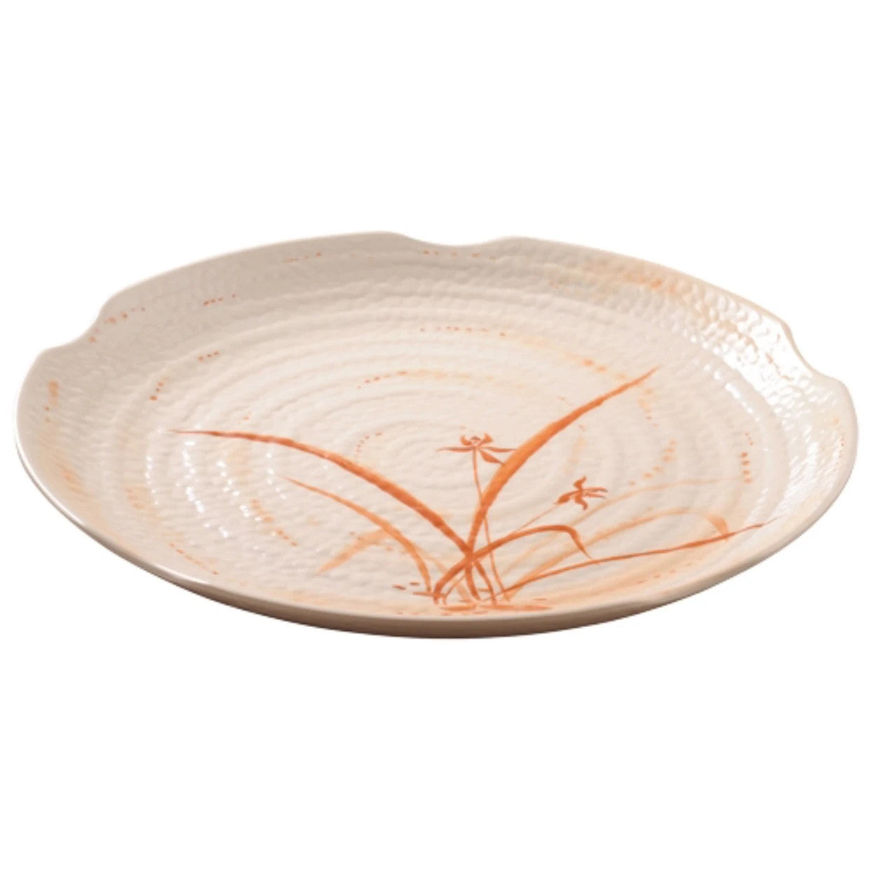 Melamine Round Ripple Plate 1816GD Gold Orchid
