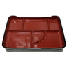 Lacquered Two-tone Teishoku Platter Red ABS