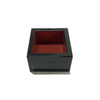 Lacquered D.X Square Sake Masu Cup Black ABS