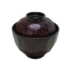 Lacquered Soup Bowl w/Lid Burgundy ABS