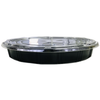 Takeout/To-go Container KS-65-1 Black Catering / Deli Tray with Flat Lid (140/Case)