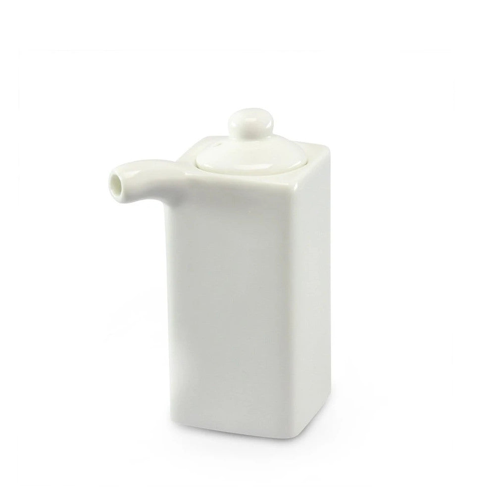 "Ceramic Soy Sauce Pot Dispenser H3.25""x1.5""SQ 4oz (A5381)"