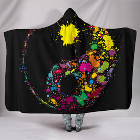 Night Yin Yang Hooded Blanket