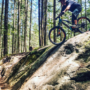 Grant uses Loam Goat brake pads and rides around Squamish, Nanaimo, Hornby Island and the North Shore in British Columbia, Canada