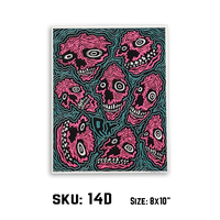 "10 YEAR POSTERS (8x10"" Catalogue) by RX SKULLS"