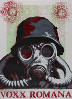 """Gas Mask Invader"" by Voxx Romana"