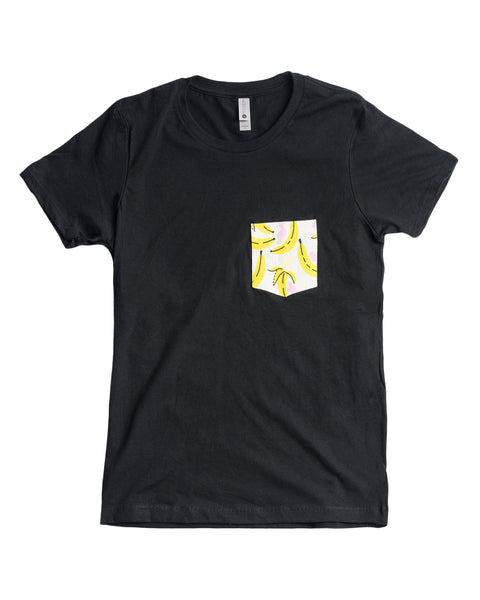 """Banana Pocket Tee"" by MAHINA LUNA DESIGNS"