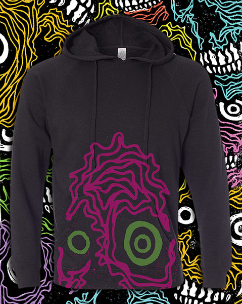 """Giant Crop Skull"" Pullover Hoodie 