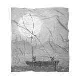 """Moon Thieves"" Fleece Blanket by McMONSTER"