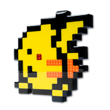"""Pikachu"" Pokemon Pixelated, Resin Coated Wood Cutout by PIXEL PARTY"
