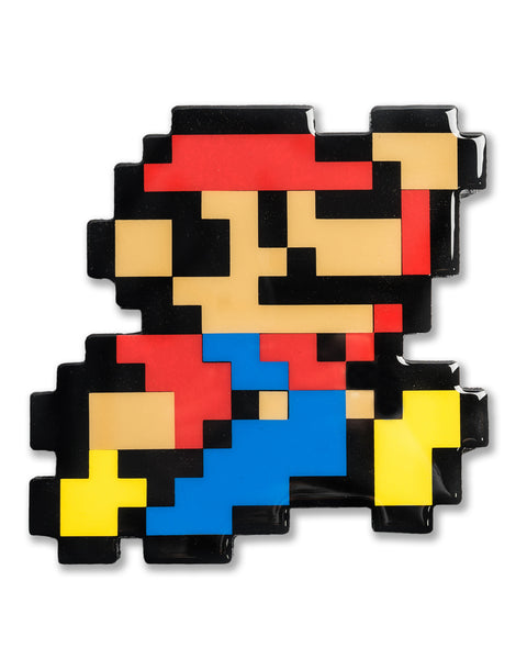"""It's-a Me"" Super Mario Pixelated, Resin Coated Wood Cutout by PIXEL PARTY"