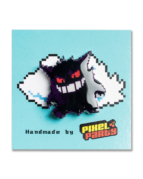 """Gengar"" Pokemon Pin by 8-BIT0"