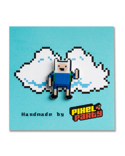 """Finn the Human"" Adventure Time Pin by PIXEL PARTY"