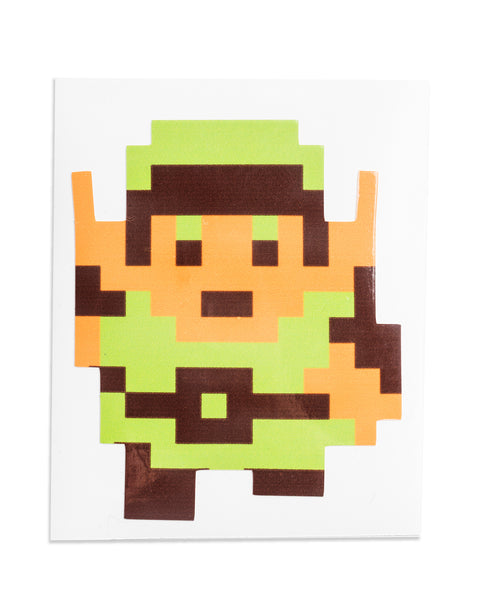 """Link"" Legend of Zelda Sticker by PIXEL PARTY"
