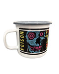 Enamel Camp Mug by RX SKULLS