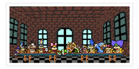 """Yoshi's Last Supper"" Print by PIXEL PARTY"