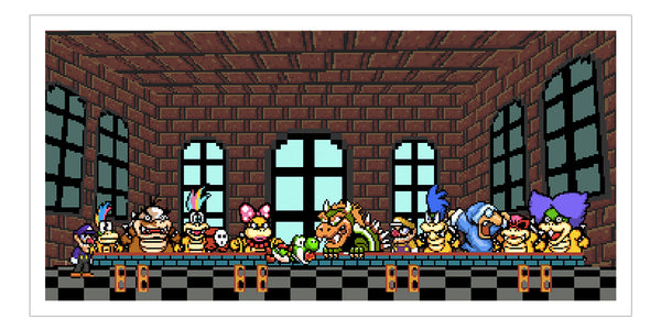 """Yoshi's Last Supper"" by PIXEL PARTY"