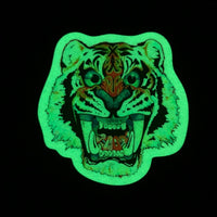 """Glow Tiger"" Sticker by CALB JAY"