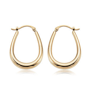 14k U-shape Hoop Earrings