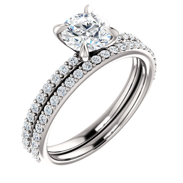 Round Diamond Engagement Ring Mounting