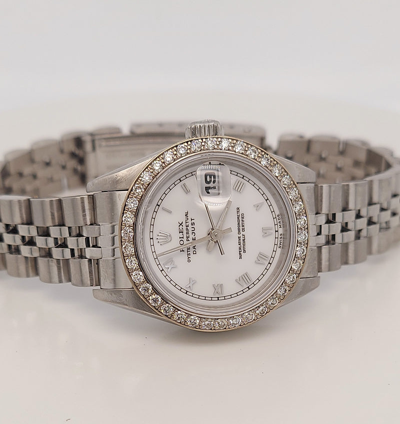 ROLEX OYSTER PERPETUAL DATEJUST 69174 WHITE DIAL