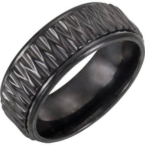 Cobalt chrome/Silver Band (8mm)