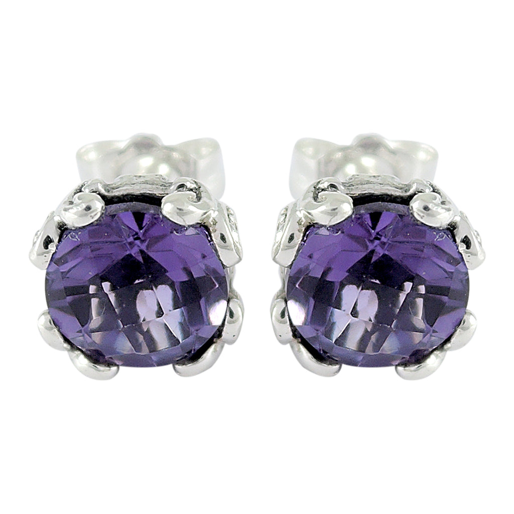 Samuel B. Amethyst Stud Earrings