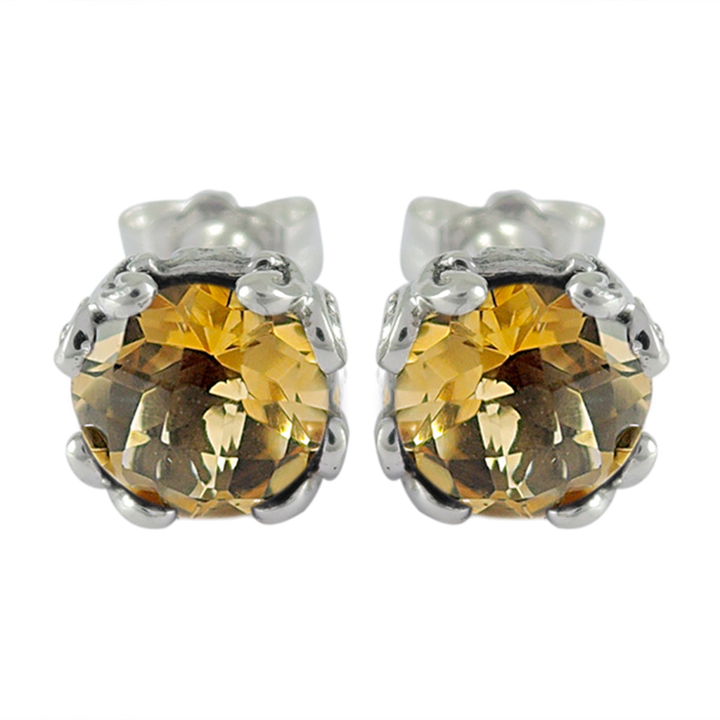 Samuel B. Citrine Stud Earrings