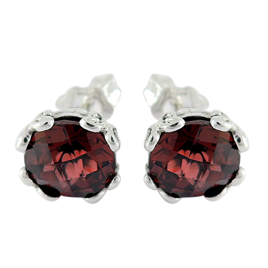 Samuel B. Garnet Stud Earrings