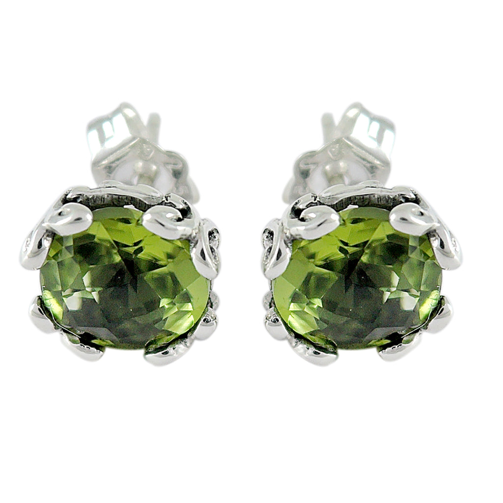 Samuel B. Peridot Stud Earrings