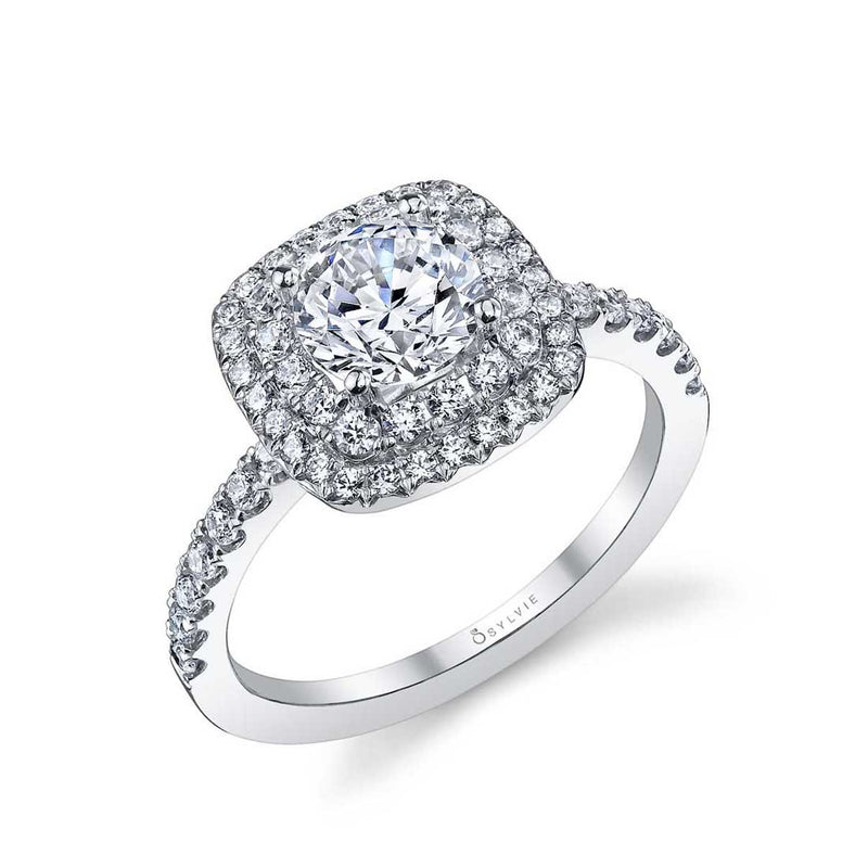 Sylvie Melodie Double Halo Engagement Ring