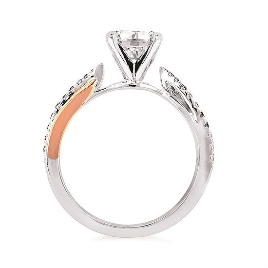 Criss Cross Diamond Engagement Ring