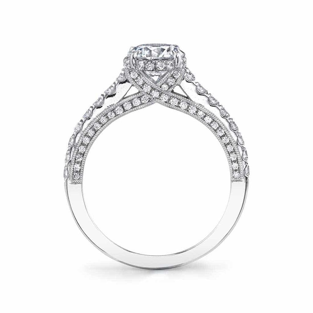 Sylvie Halo Engagement Ring