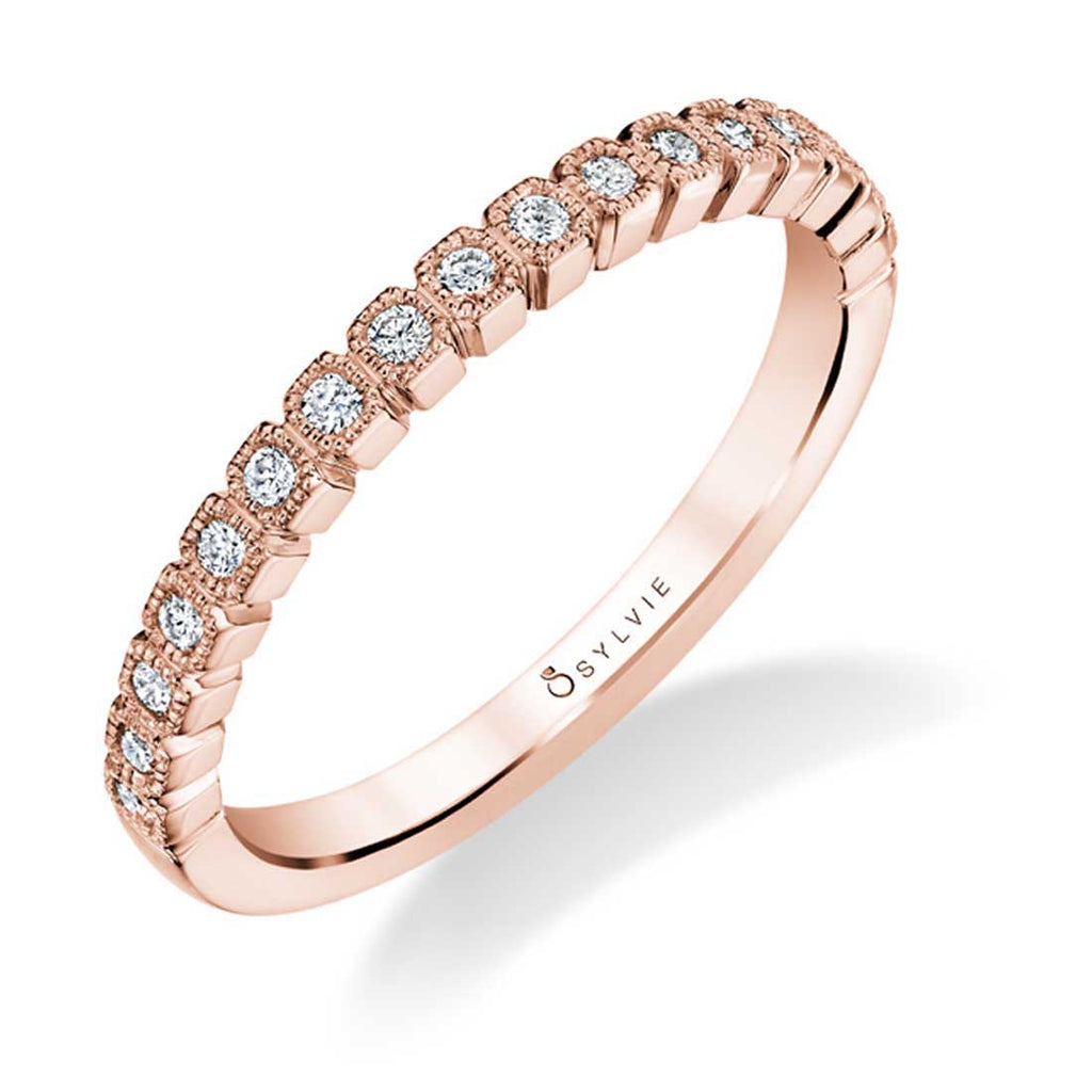Sylvie Olympia Stackable Diamond Band