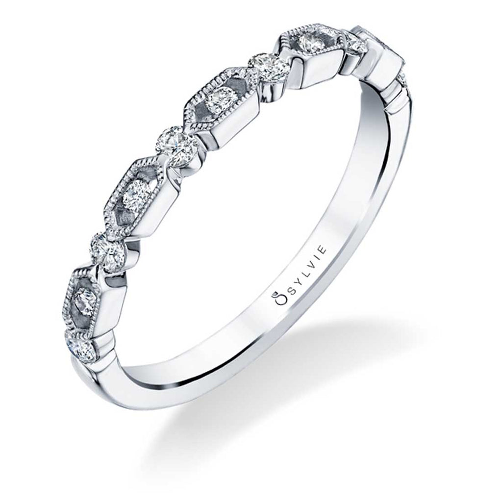 Sylvie Diahna Stackable Diamond Band