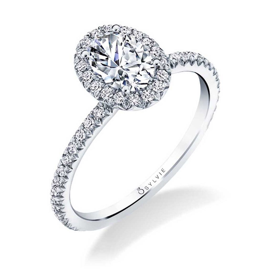 Sylvie Vivian Oval Halo Engagement Ring