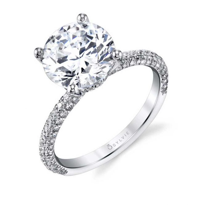 Sylvie Jayla Classic Engagement Ring