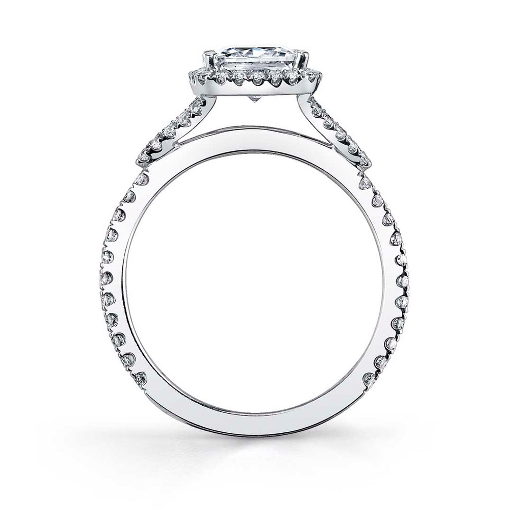 Sylvie Clarice Halo Diamond Engagement Ring