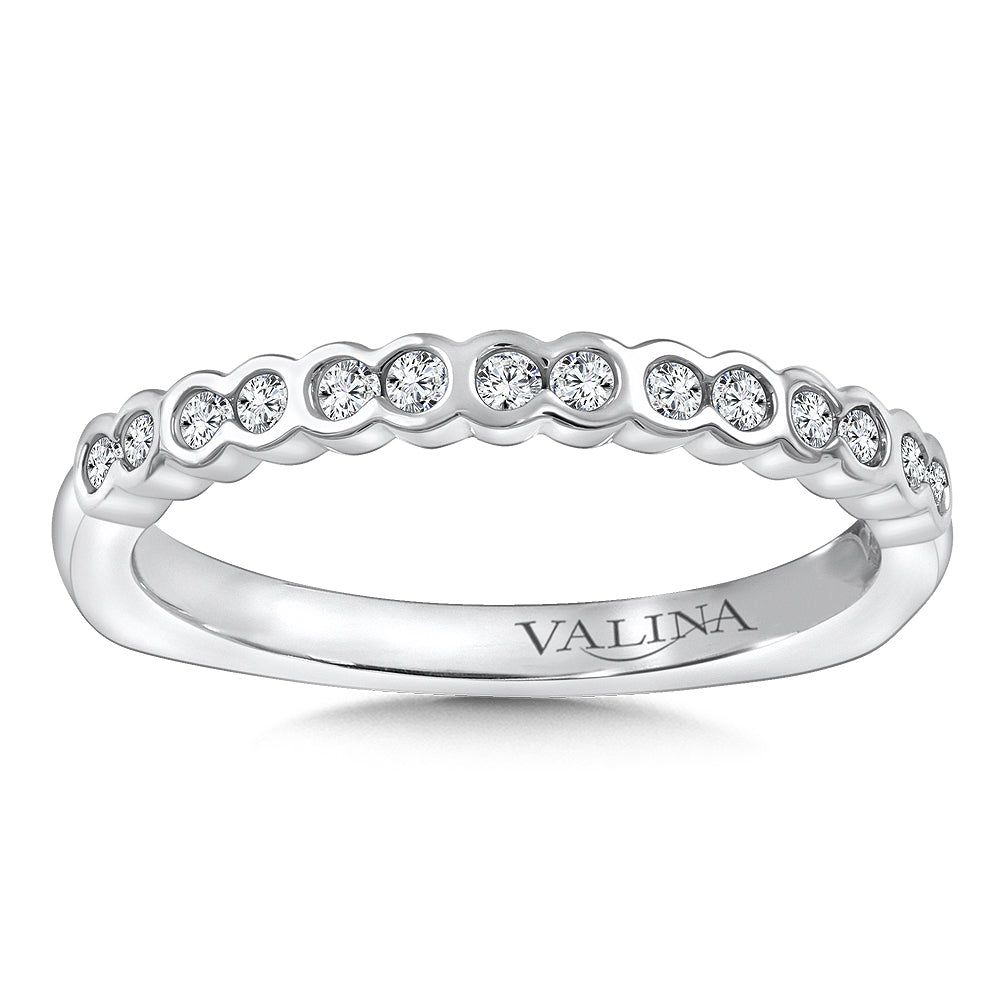 White Gold Stackable Wedding Band