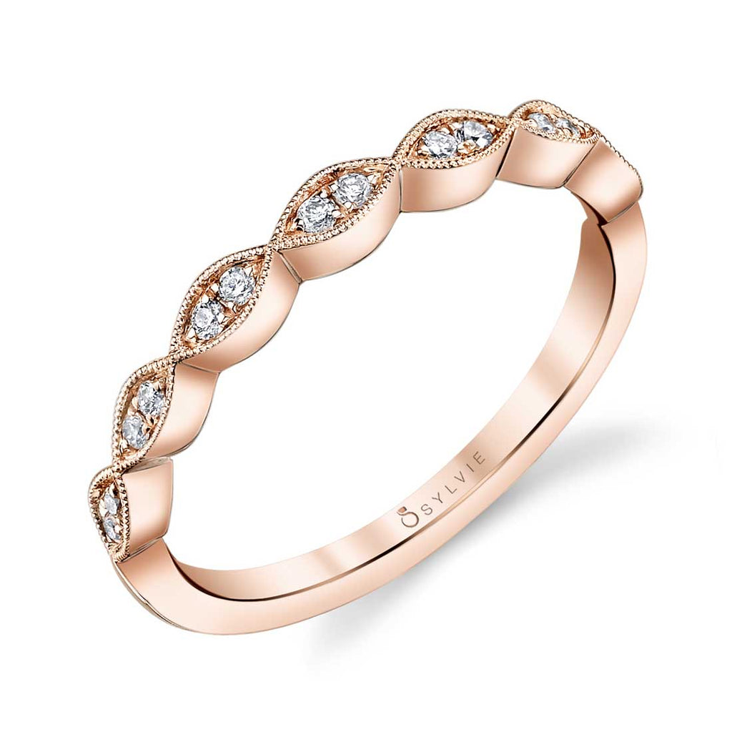 Sylvie Madeleina Stackable Diamond Band
