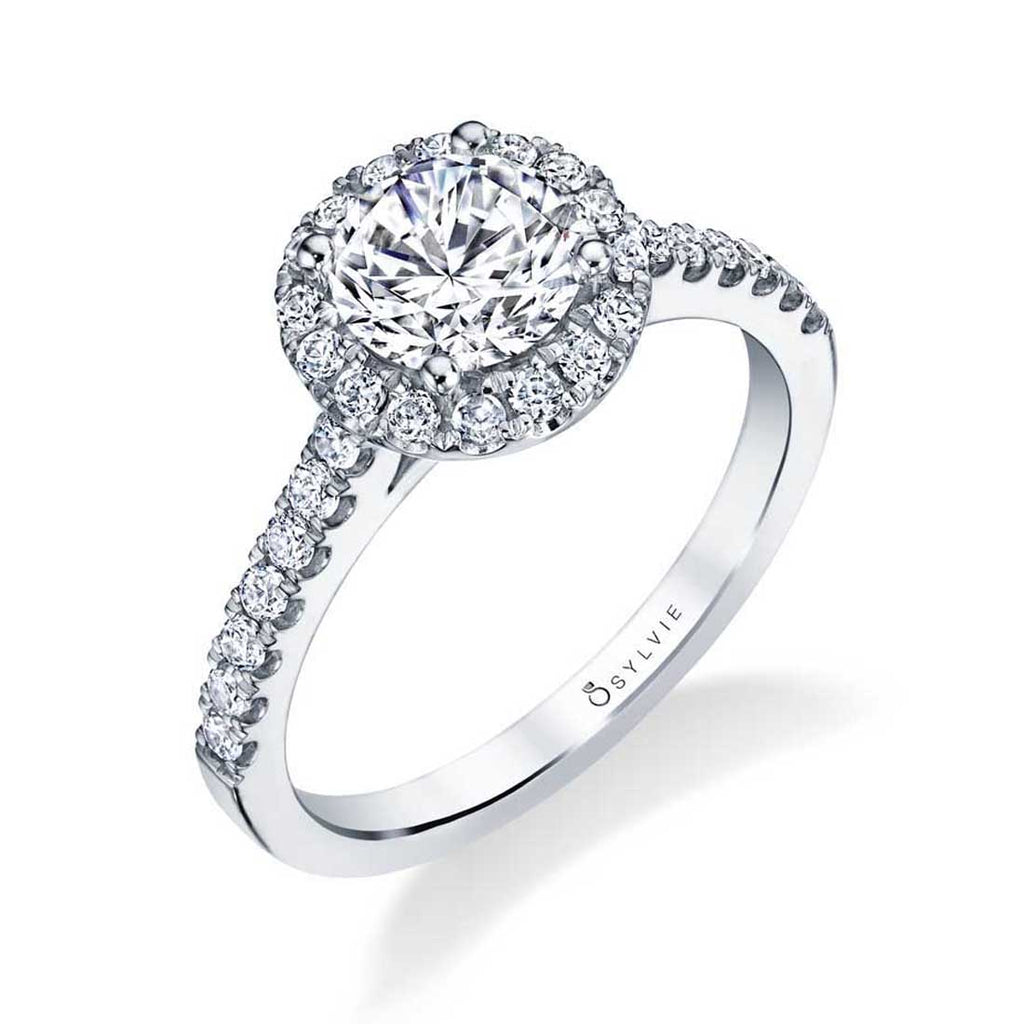 Sylvie Emma Round Halo Engagement Ring