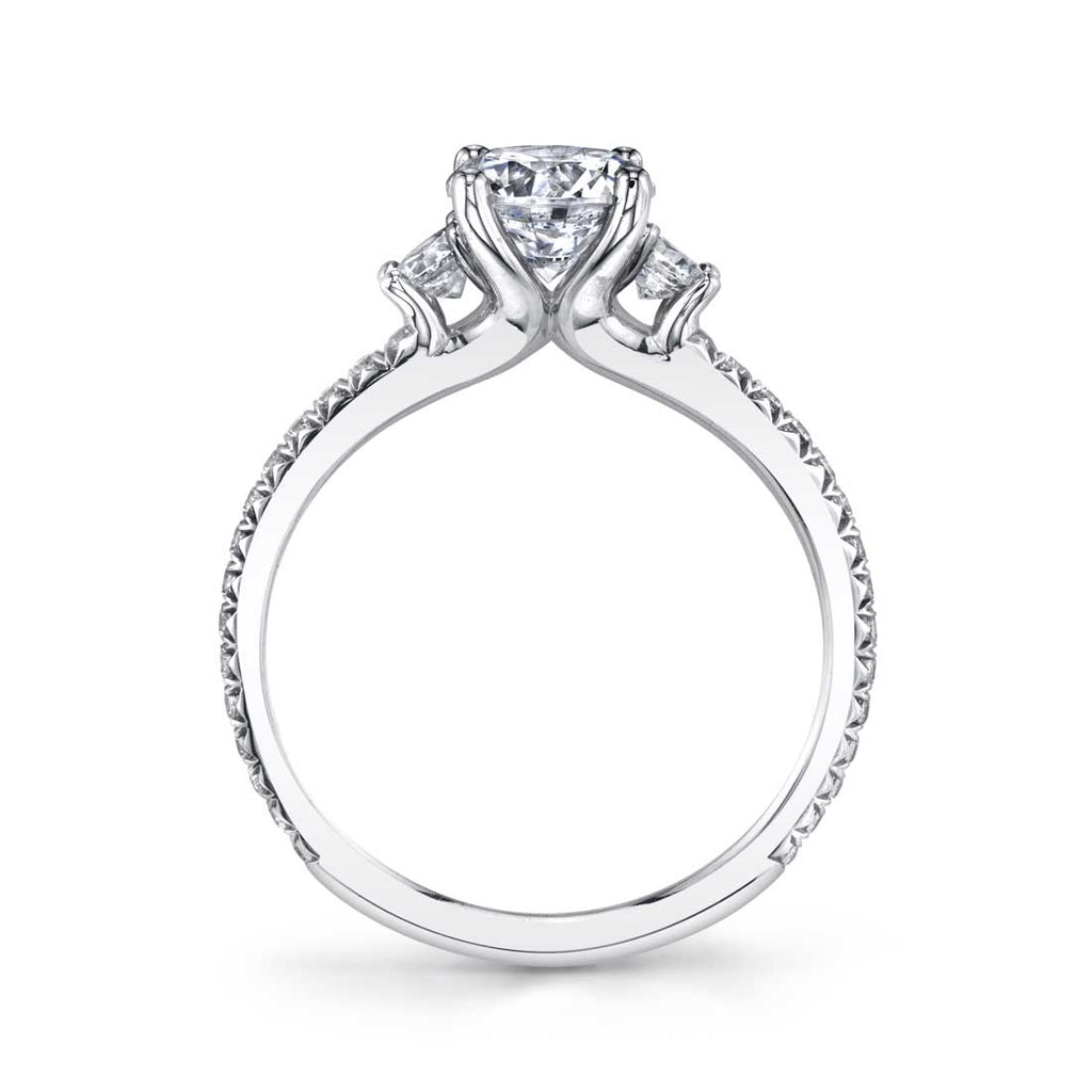 Sylvie Eloise Three Stone Diamond Engagement Ring