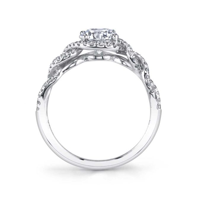 Sylvie Audrey Spiral Engagement Ring