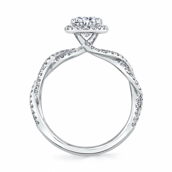 Sylvie Oval Halo Engagement Ring