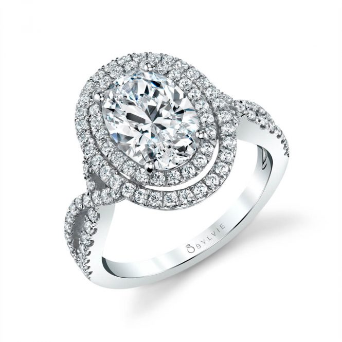 Sylvie Double Halo Engagement Ring