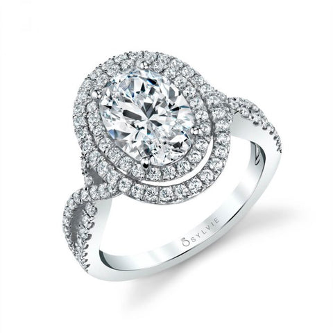 Three Stone Oval Engagement Ring