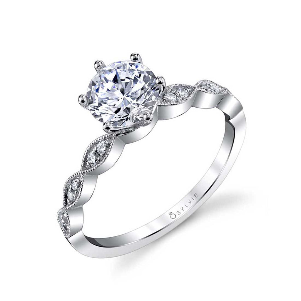 Sylvie Chanelle Round Engagement Ring