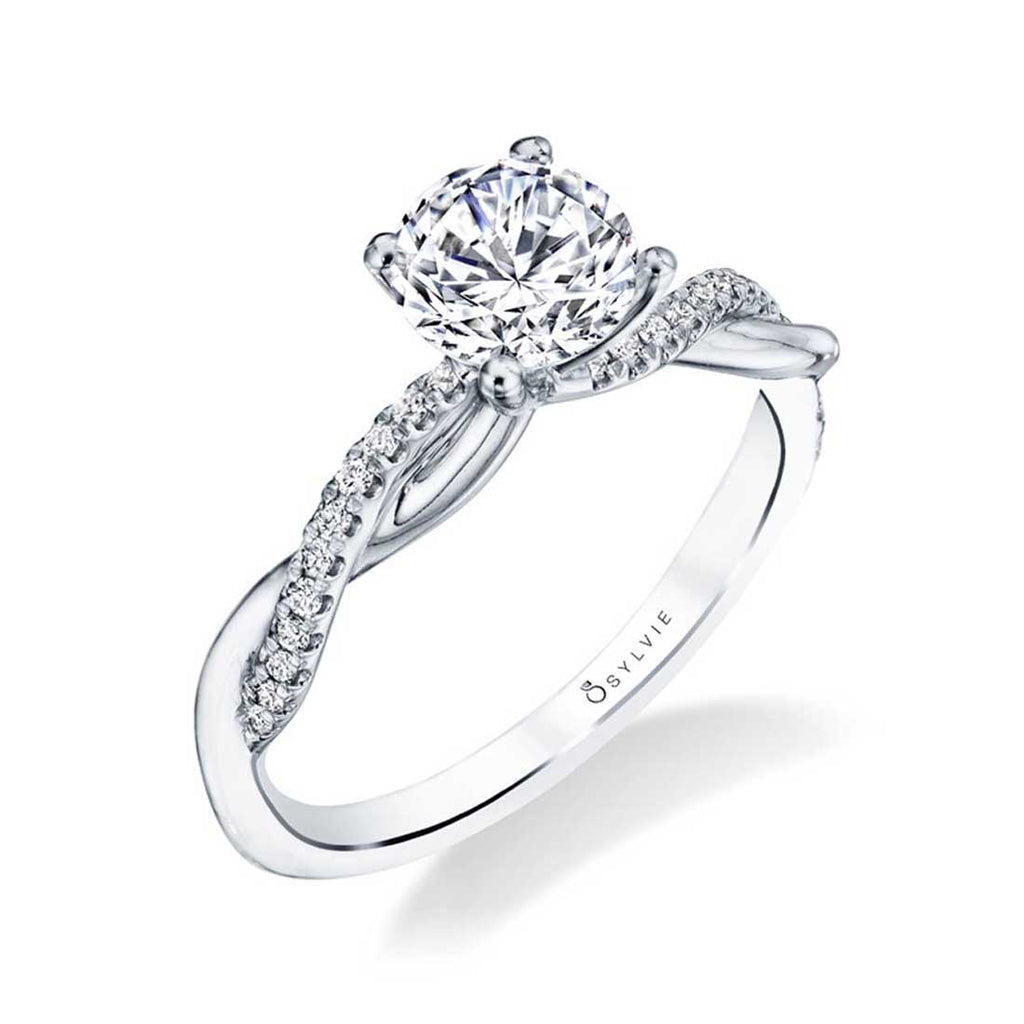 Sylvie Yasmine Spiral Engagement Ring