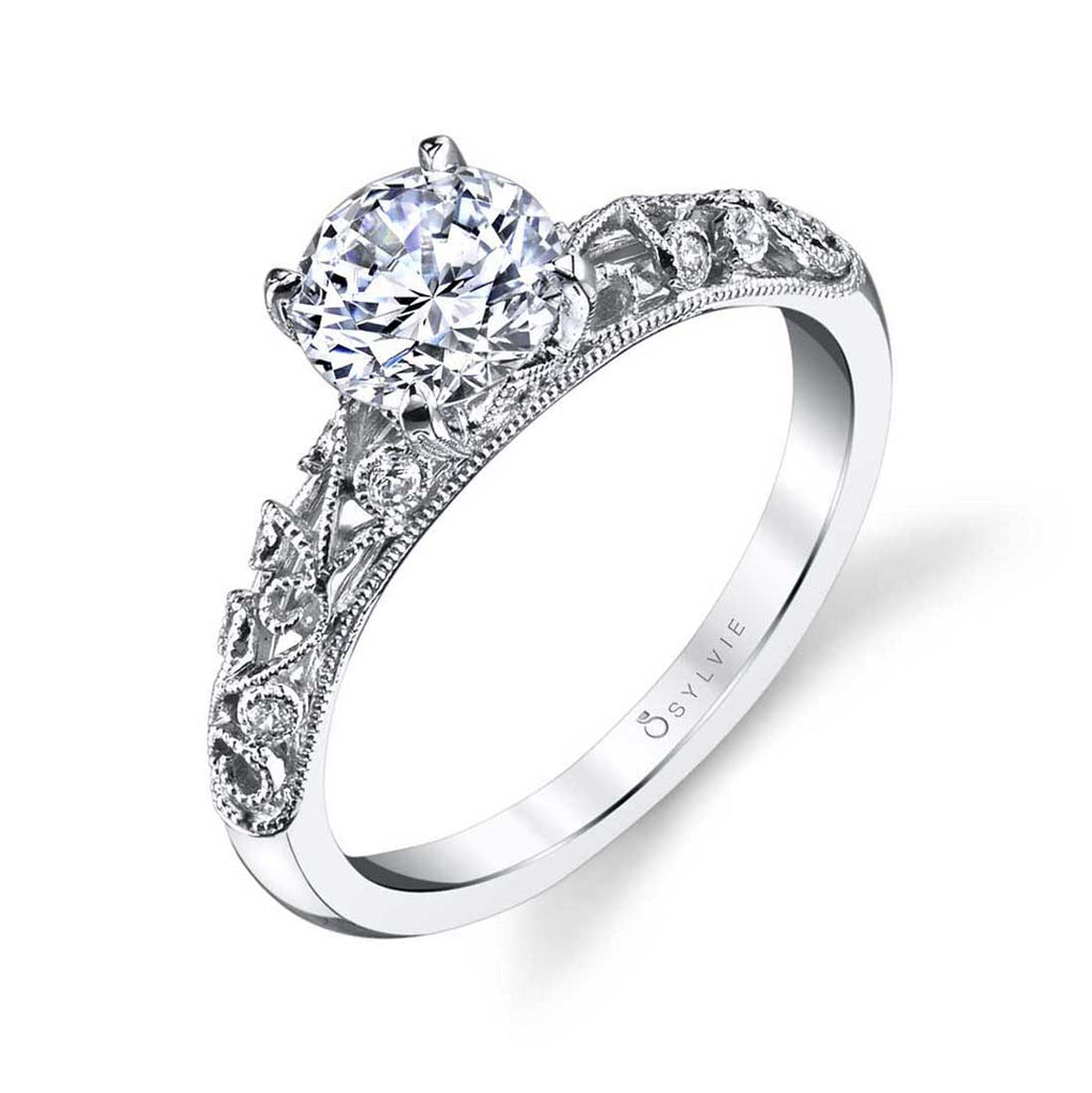 Sylvie Elaina Vintage Engagement Ring